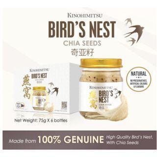 Kinohimitsu Bird Nest w Chia Seed 6s x 2- High Quality Bird Nest