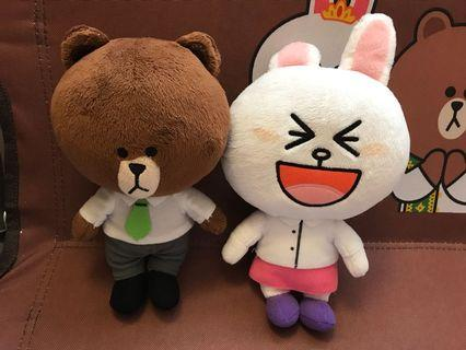 Line Friends 20cm office Brown and Cony