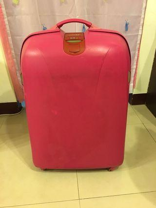 28吋行李箱~桃紅