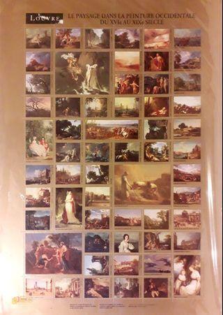 羅浮宮博物館珍藏名畫特展紀念郵票(無面額)