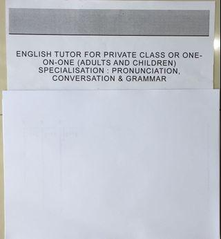 Private English Tutor