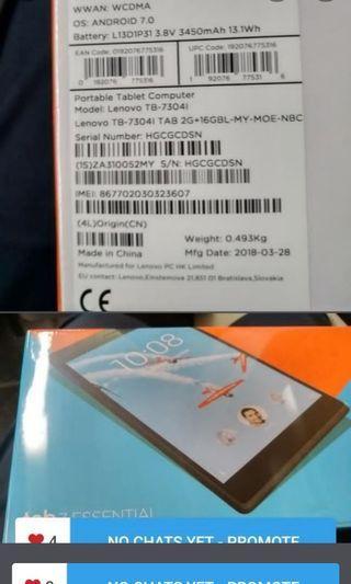 Brand new SiM capability Lenovo essential tablet for sale