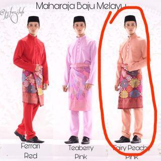NEW SHAWLPUBLIKA MAHARAJA BAJU MELAYU PEACH XL