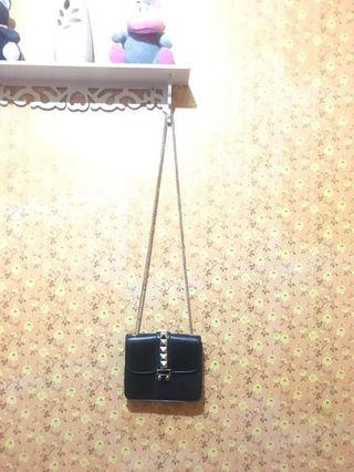 sling bag / tas selempang hitam wanita TURUN HARGA!!!
