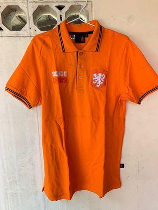 KNVB Official Orange Man Tshirt