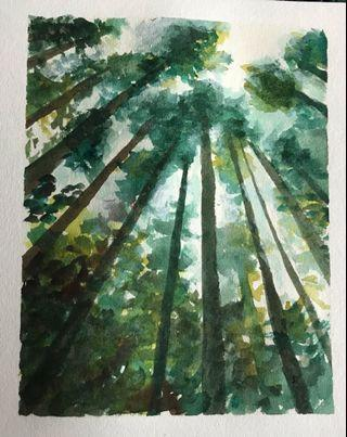 Trees painting print