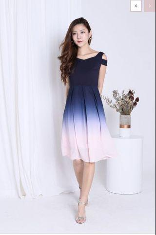 Blue & Pink Ombre Dress