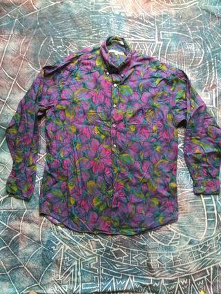 Vintage long sleeve shirt floral printed