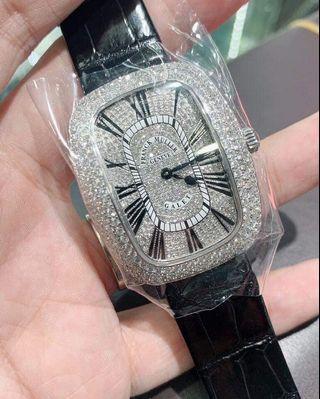 New Franck Galet 3002 M qz Aftersetting Authentic Belgian Diamonds, put on full beauty, Fullset Box + cert 2019