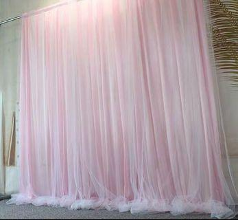 Tutu tulle backdrop curtains