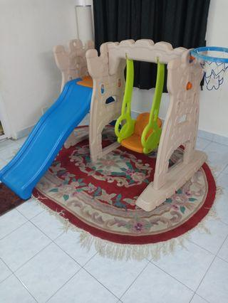 Big size Grow n up kids swing and slide 4 in 1 ,for 2 to 8 years kids