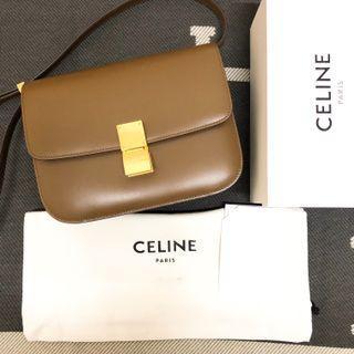 <二手良品> CELINE Classic Box 招財 焦糖色 新Logo