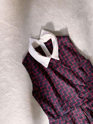 Patterned checkered dress