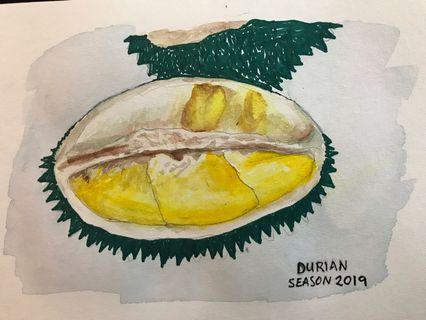 Durian painting print