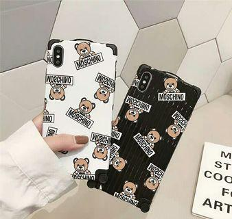 MOSCHINO熊仔行李箱款iPhone蘋果手機殼