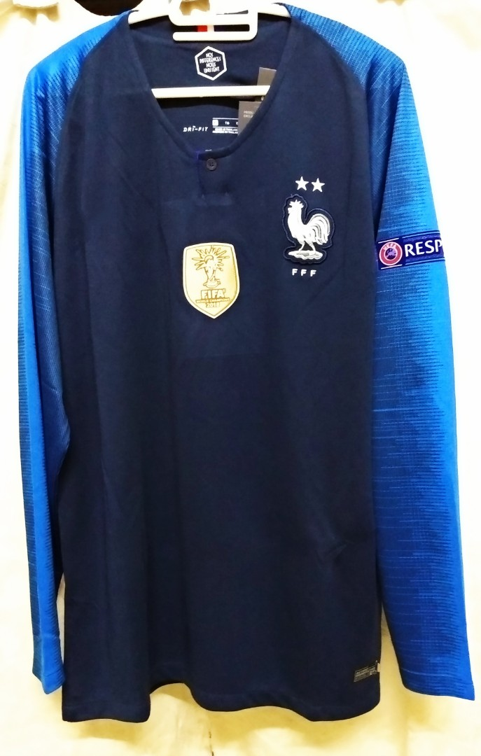 free shipping 1d1c1 fc334 2018 FFF France National Football Team 2Stars Replica JERSEY