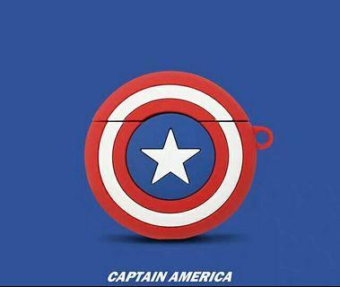 Marvel Captain America 美國隊長airpods case蘋果藍芽耳機盒保護套