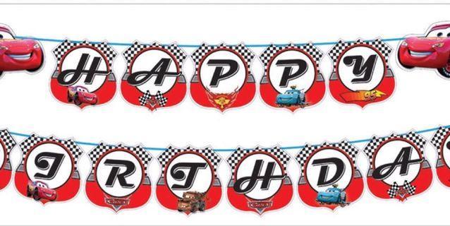 Happy Birthday Banner Cars