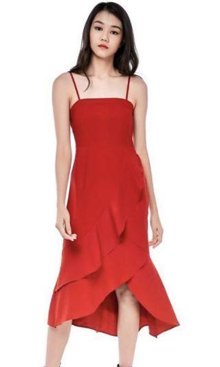 TEM Leonie Ruffle Midi Dress XS