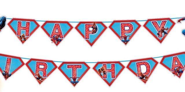 Happy Birthday Banner Spiderman