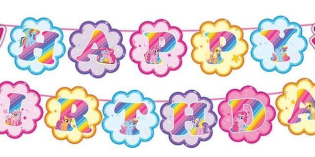 Happy Birthday Banner Pony
