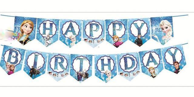 Happy Birthday Banner Frozen