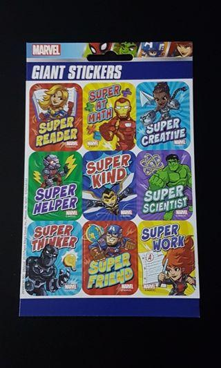 [INSTOCK] BN Marvel Superheroes Giant Motivational Stickers