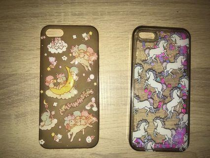 unicorn case and little twin star case for iphone 5/5s