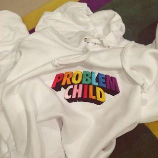 Problem child white hoodie