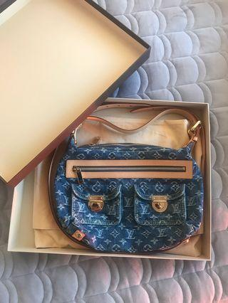 Authentic Louis Vuitton Monogram Denim Bag