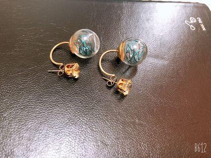 藍色燈泡耳環