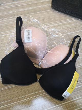Nude & Black Bra
