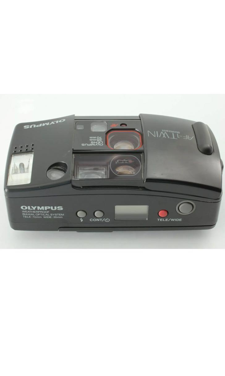 35mm Film Camera: Olympus AF-1 Twin Point and Shoot