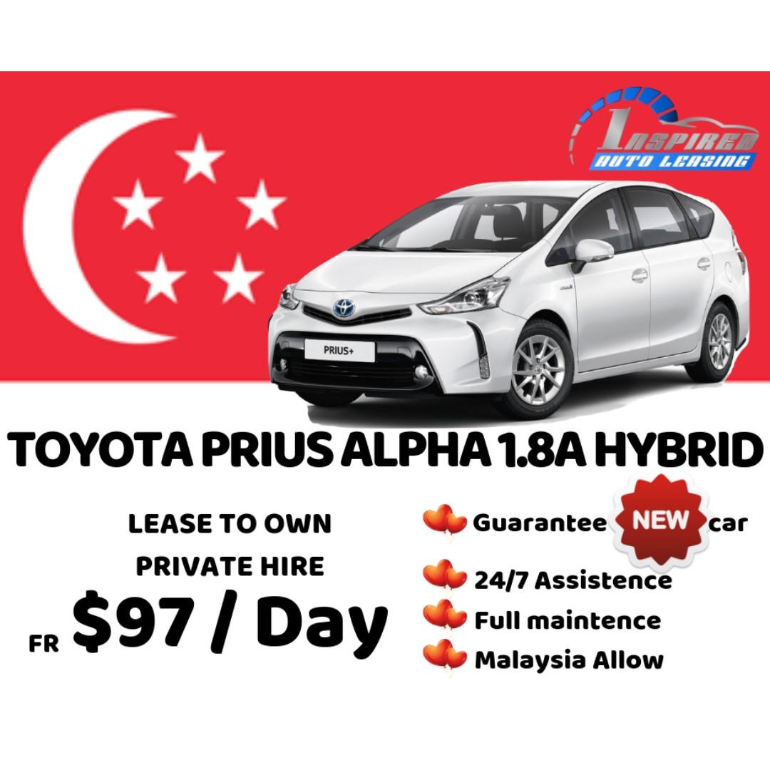 [ Brand New ] TOYOTA PRIUS ALPHA 1.8A HYBRID * Lease To Own *