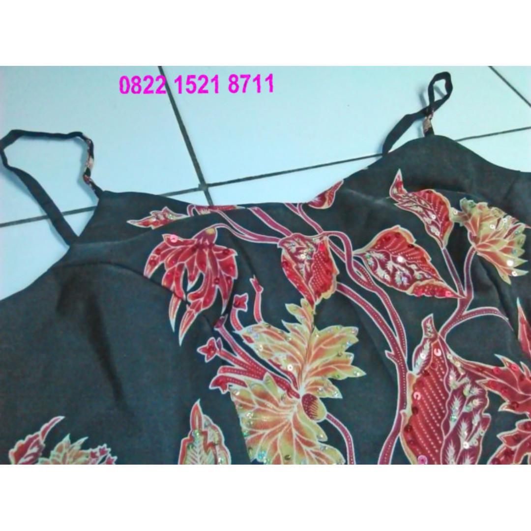Hot Sale Juni Dress Brokat Kombinasi Satin Bukan Bn88713