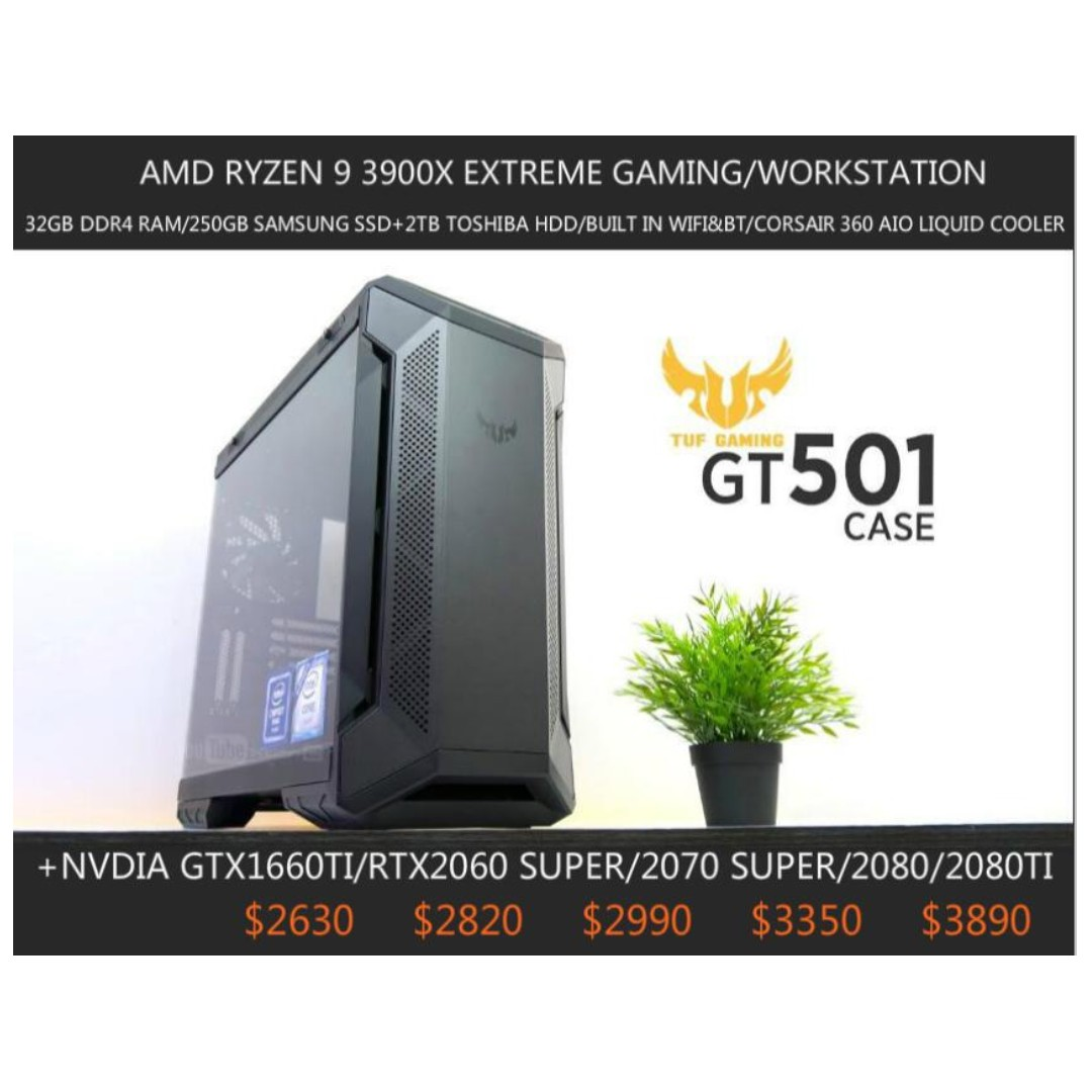 Amd Ryzen 9 3900x Rgb Liquid Cooler Built In Wifi Bt Extreme Gaming Workstation Custom Desktop Pc Build To Order Lifestyle Services Electronics Gadget Repairs On Carousell