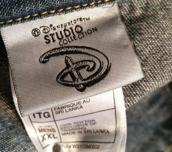 Blue Jean Jacket Disney Jack Skellington Denim Trucker NEW