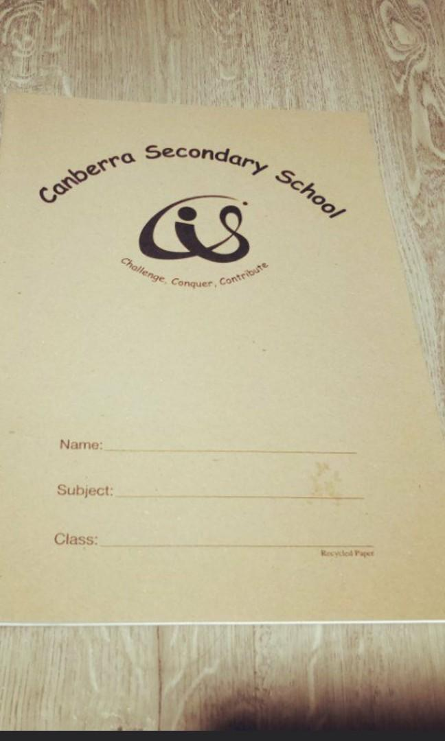 CANBERRA SECONDARY SCHOOL LONG EXERCISE BOOK * ( 4 ) #NEGO 🙏