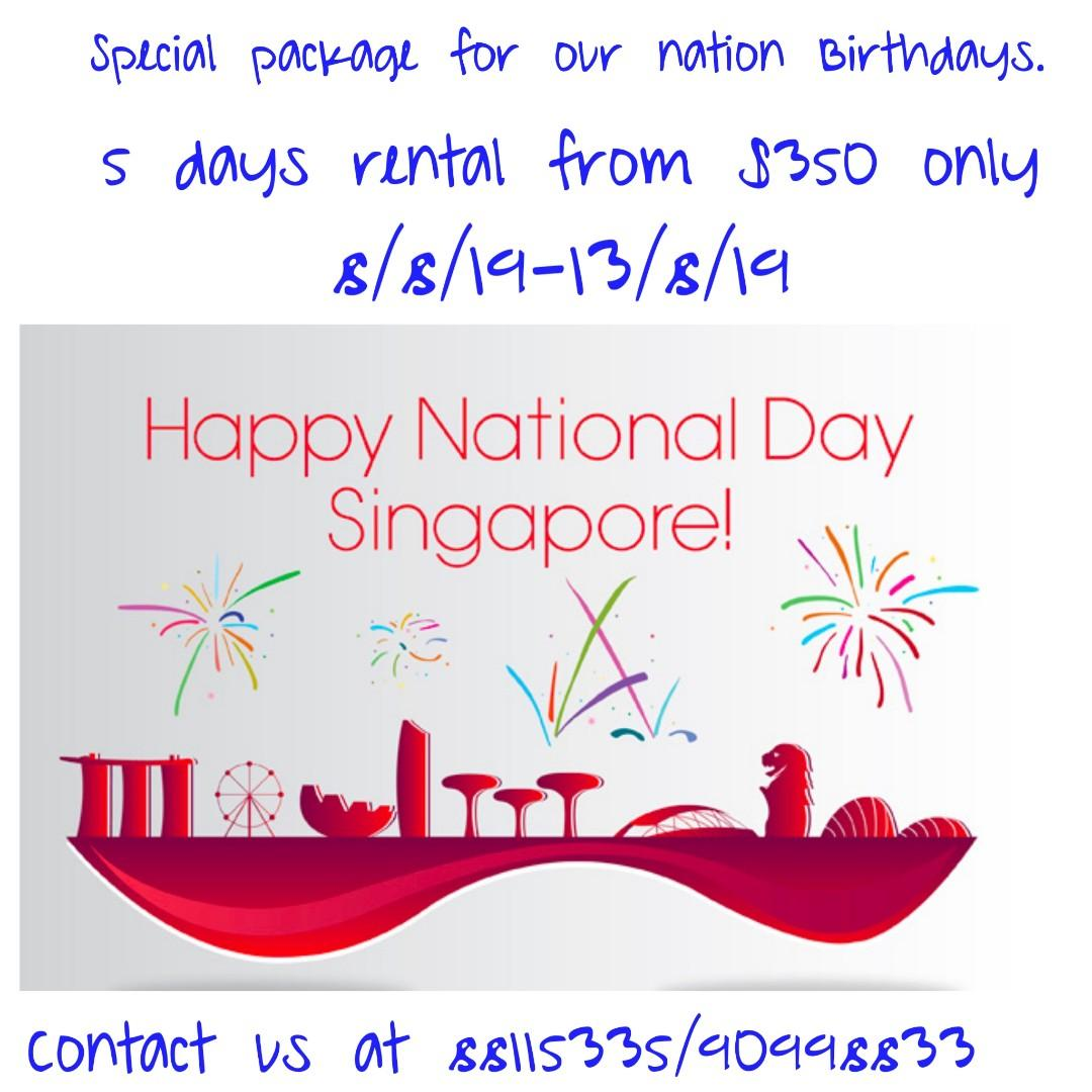 Celebrate our Nation Birthday with us. 5 days from $350 only .8-13/8