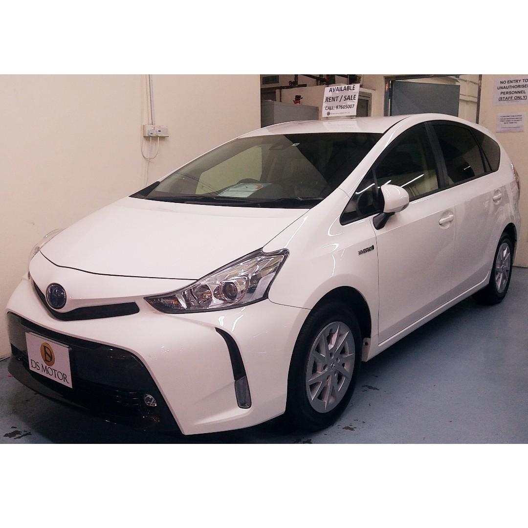 Cheapest New Car Rental - Toyota Prius Alpha Hybrid 7 Seater (Entitle GO JEK Rebate)