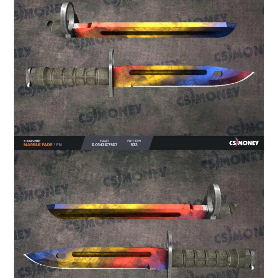 CSGO Bayonet Marble Fade FN, Toys & Games, Video Gaming, In