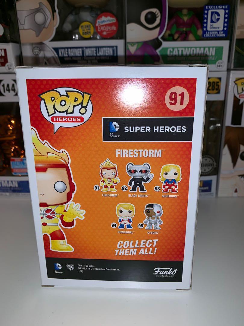 DC Super Heroes GITD Firestorm White Lantern Funko Pop Vinyl Figure