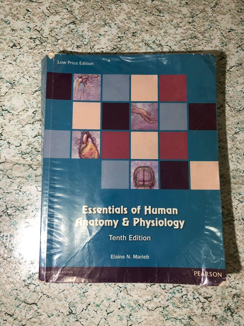 Essentials of Human Anatomy & Physiology (10th edition) by Elaine N. Marieb and Human Anatomy & Physiology Laboratory Manual (10th edition) by Marieb, Mitchell, & Smith