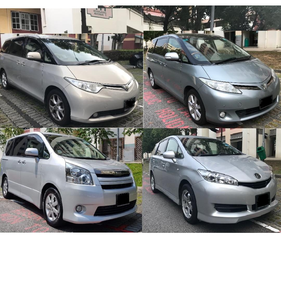 Full Size MPVs Toyota Estima Noah 8 Seater Available