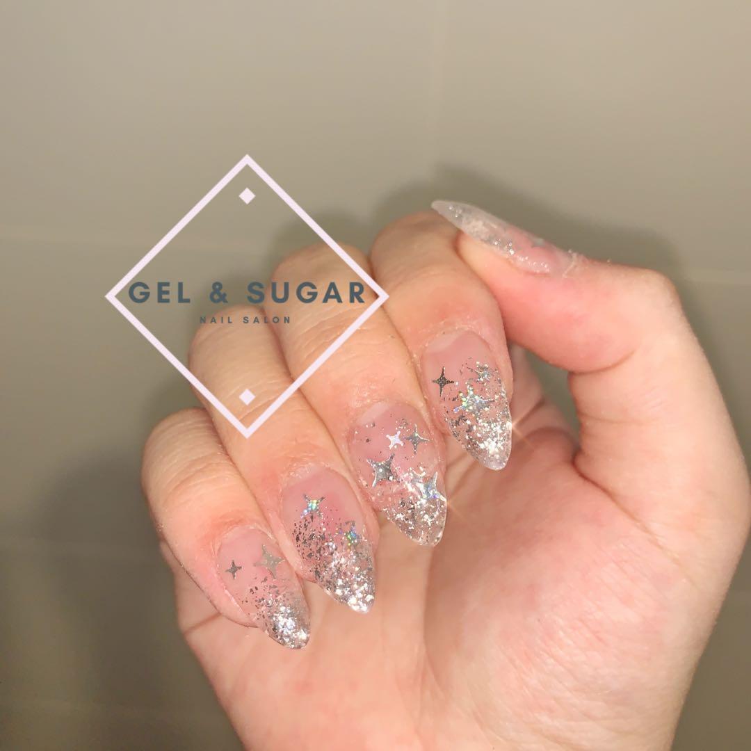 Glass encapsulated glitter nails, Health & Beauty, Hand