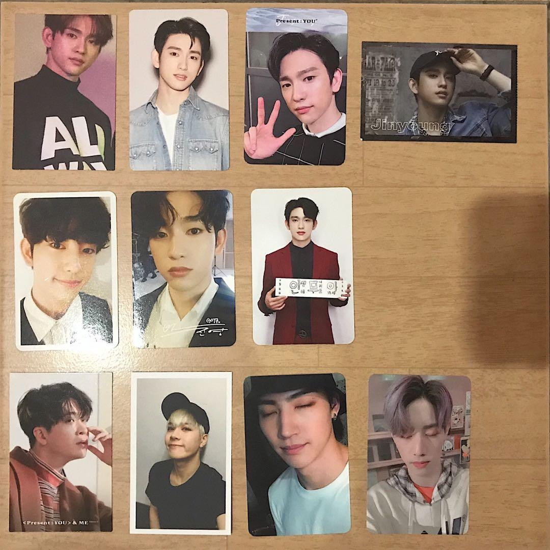 GOT7 Official Photo Cards; Mark, JB, Jackson, Jinyoung & Youngjae