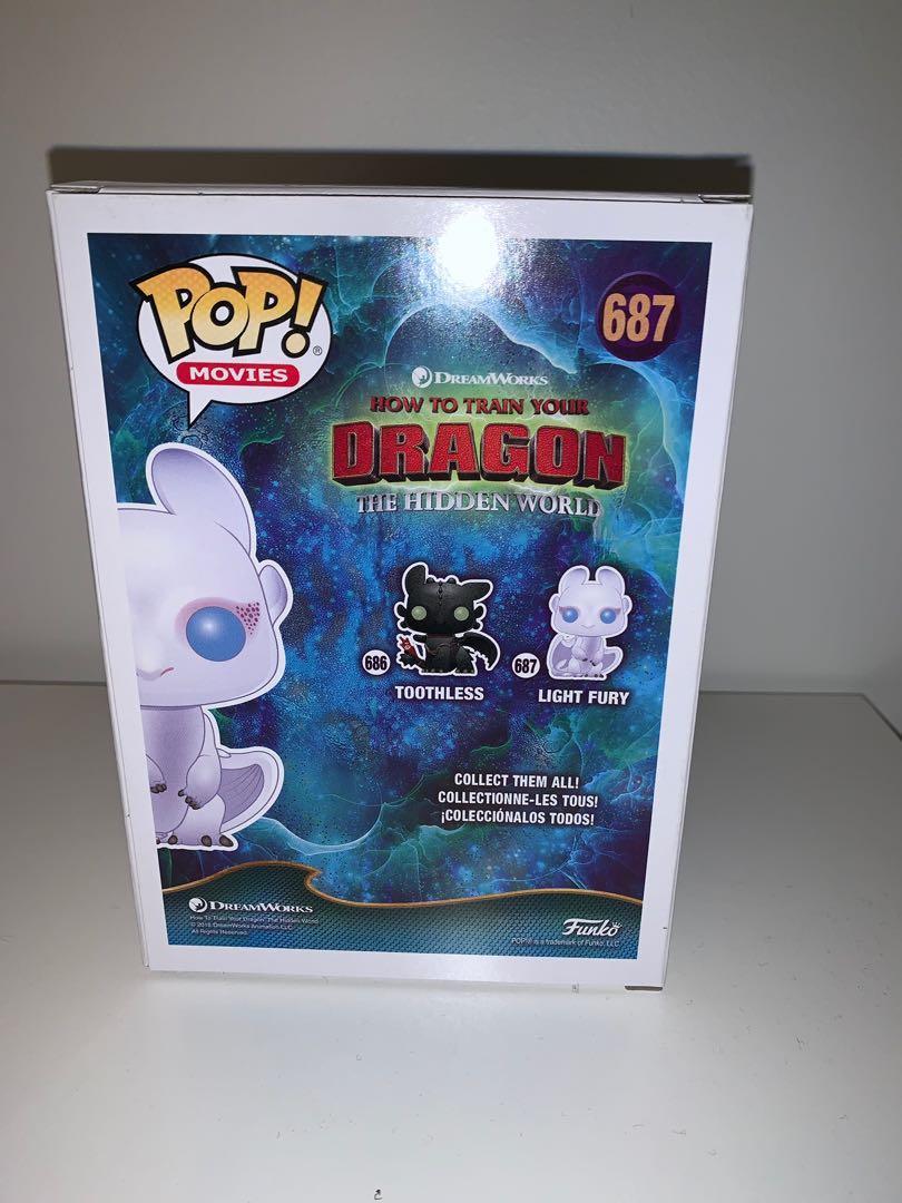 How to Train Your Dragon Light Fury Glitter Pop Cultcha Exclusive Funko Pop Vinyl Figure