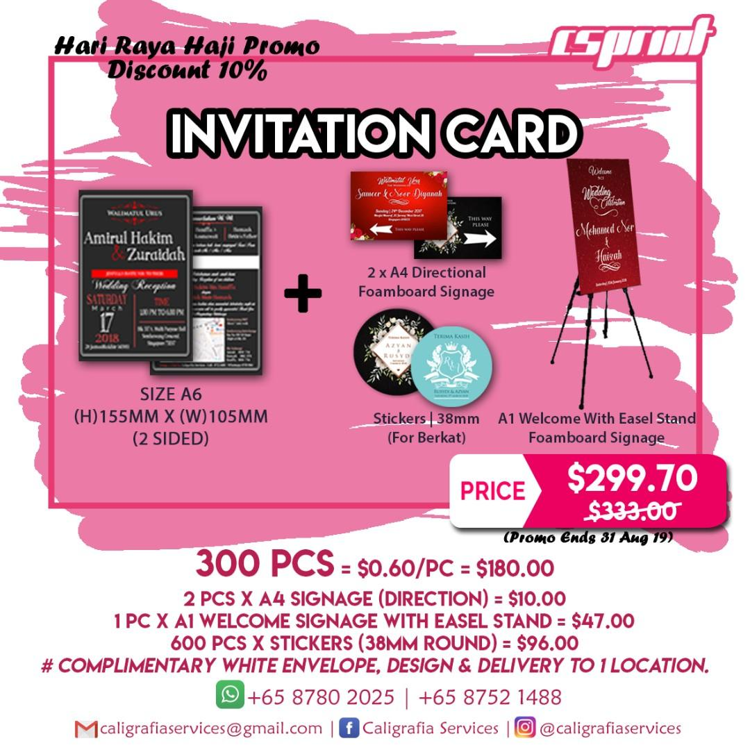 Wedding Invitation Cards Promo Till 31 Aug 19 On Carousell