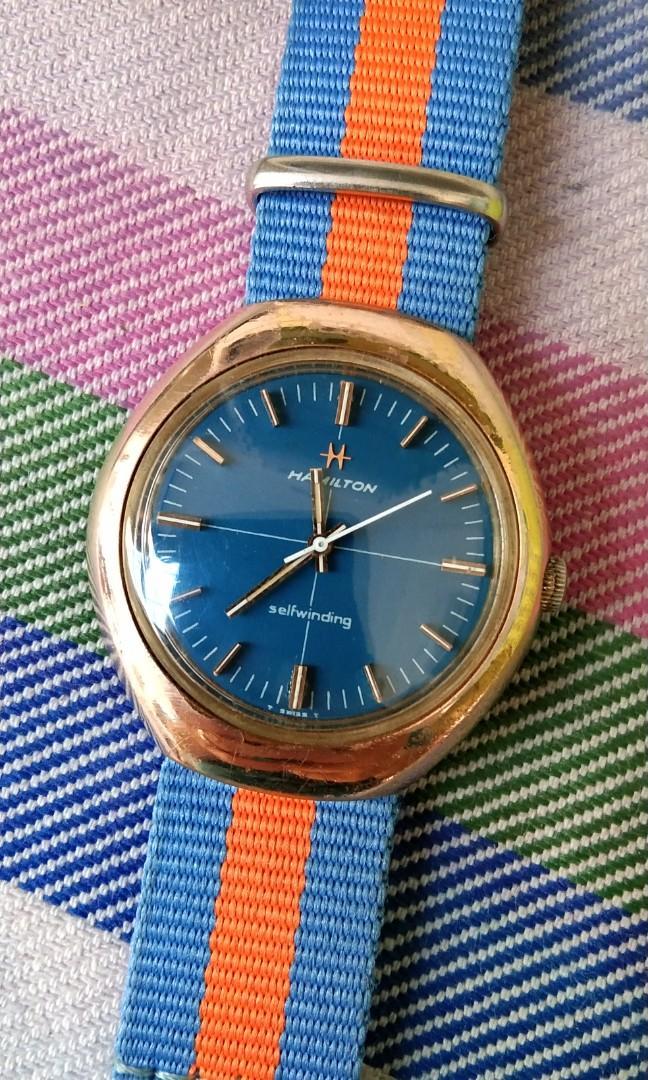 Jam tangan original vintage Hamilton Automatic langka mulus banget