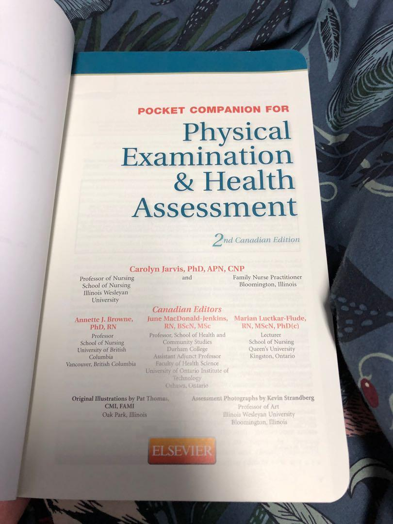 Jarvis physical Examination & Health Promotion pocket book